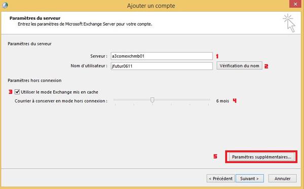Configuration manuelle outlook for Jonas ouvre la fenetre